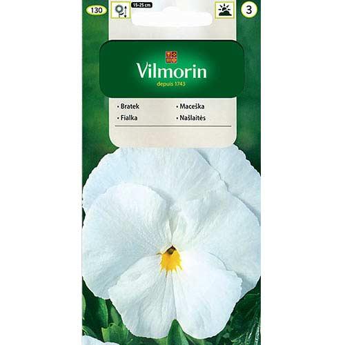 Bratek wielkokwiatowy Szwajcarski biały Vilmorin interface.image 1 interface.art 77672