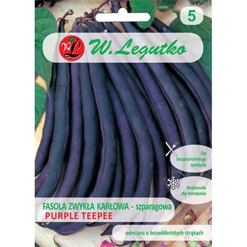 Fasola szparagowa karłowa Purple Teepee Legutko interface.image 1 interface.art 69468